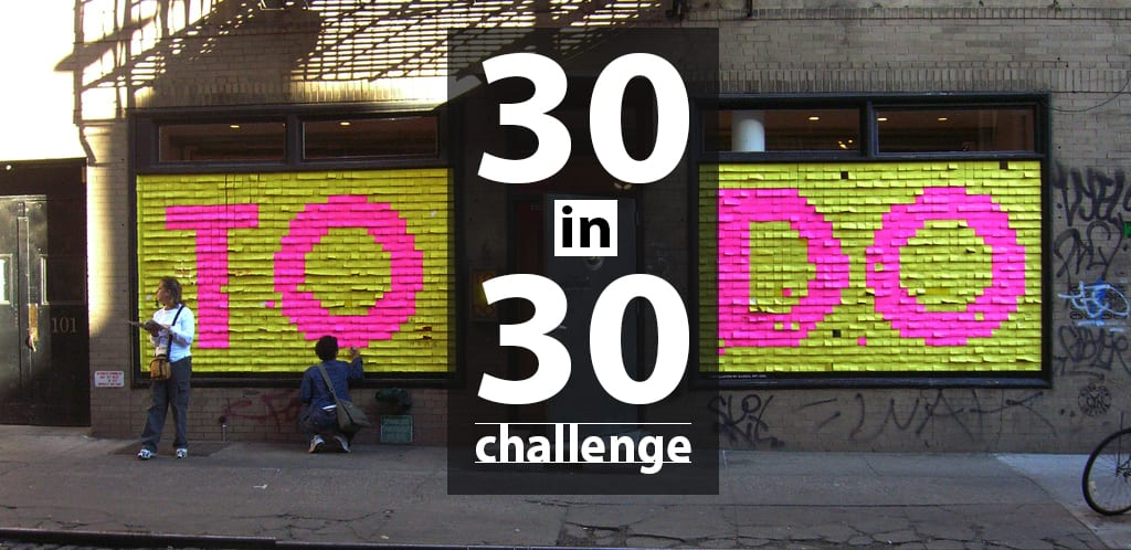 30 in 30 Startup Challenge